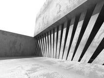Fondo astratto geometrico concreto di architettura Immagine Stock Libera da Diritti