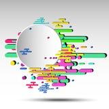 fondo astratto geometrico 3d con l'insegna rotonda - vector eps10 Fotografie Stock Libere da Diritti