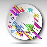 fondo astratto geometrico 3d per la vostra insegna - vector eps10 Immagine Stock Libera da Diritti