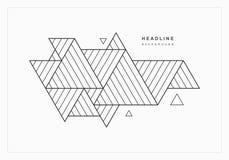 Fondo astratto geometrico dei triangoli Illustrazione Vettoriale