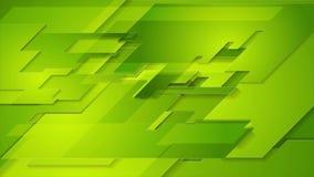 Fondo astratto geometrico di moto di tecnologia verde intenso