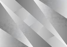Fondo astratto geometrico grigio e bianco, illustrazione di vettore con lo spazio della copia royalty illustrazione gratis