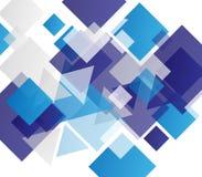 Fondo astratto geometrico moderno blu Fotografie Stock