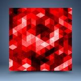 Fondo astratto geometrico rosso Fotografie Stock