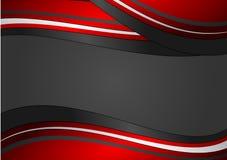 Fondo astratto geometrico rosso e nero, illustrazione di vettore Fotografie Stock Libere da Diritti
