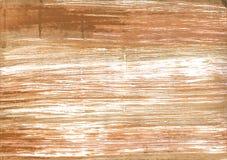 Fondo astratto giallo dell'acquerello di Brown Immagini Stock Libere da Diritti