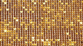 Fondo astratto giallo sul basato su di distorsione del metallo, dei cerchi e delle ombre, struttura della superficie bianca con i video d archivio