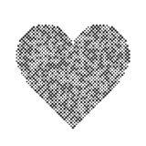 Fondo astratto grafico del punto di amore degli elementi di semitono di progettazione del cuore di vettore Fotografia Stock