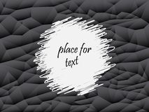 Fondo astratto grigio e nero del poligono Struttura geometrica di vettore, insieme dei triangoli Posto per testo royalty illustrazione gratis