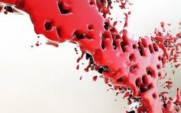Fondo astratto liquido rosso Immagine Stock Libera da Diritti