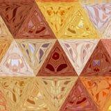 Fondo astratto luminoso del modello dei triangoli di autunno Fotografia Stock