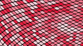 Fondo astratto multicolore dei quadrati rossi, rombi, mattonelle di rettangoli, mosaico con le cuciture di ardore magiche illustrazione vettoriale