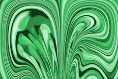 Fondo astratto nei toni verdi, con le bande contorcentesi, come un pezzo di malachite illustrazione vettoriale