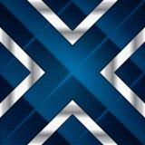 Fondo astratto, opuscolo blu metallico Fotografia Stock Libera da Diritti