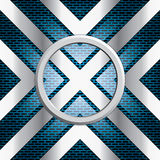 Fondo astratto, opuscolo blu metallico Immagini Stock Libere da Diritti