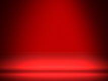 Fondo astratto per il prodotto con stile della stanza e colore rosso Immagine Stock