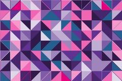 Fondo astratto poligonale ultravioletto Poli modello di cristallo basso Progettazione con le forme del triangolo Immagini Stock Libere da Diritti
