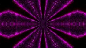 Fondo astratto porpora del caleidoscopio archivi video