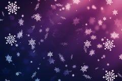 Fondo astratto porpora, fiocchi di neve Natale fondo, Natale fotografie stock