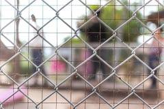 Fondo astratto, recinzione del collegamento a catena fotografia stock libera da diritti