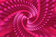 Fondo astratto rosa, forma astratta, spirale illustrazione di stock