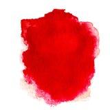 Fondo astratto rosso dell'acquerello isolato su bianco Acqua co Fotografia Stock Libera da Diritti