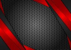 Fondo astratto rosso di vettore e nero geometrico Progettazione di struttura per il vostro affare illustrazione vettoriale