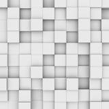 Fondo astratto: scatole bianche illustrazione di stock