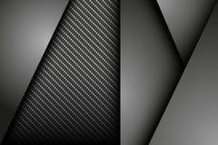 Fondo astratto scuro con carbonio e le lamine di metallo Fotografia Stock Libera da Diritti