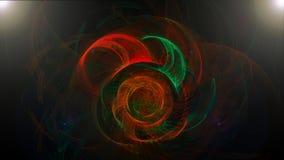 Fondo astratto scuro con i colori a spirale Immagini Stock Libere da Diritti