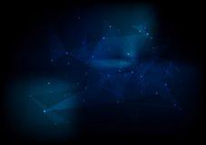 Fondo astratto scuro di vettore di ciao-tecnologia Fotografie Stock Libere da Diritti