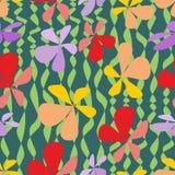 Fondo astratto senza cuciture con i fiori variopinti illustrazione di stock