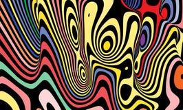 Fondo astratto sotto forma di modelli della zebra illustrazione di stock