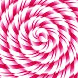 Fondo astratto a spirale dolce del bastoncino di zucchero illustrazione di stock
