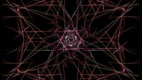 Fondo astratto - stella della luce al neon immagini stock