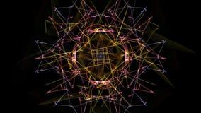 Fondo astratto - stella della luce al neon illustrazione di stock