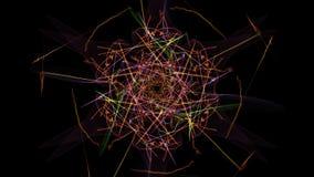 Fondo astratto - stella della luce al neon royalty illustrazione gratis