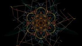 Fondo astratto - stella della luce al neon illustrazione vettoriale
