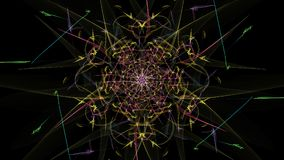Fondo astratto - stella della luce al neon Fotografie Stock