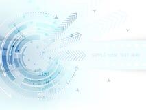Fondo astratto tecnologico con il cerchio, le frecce e la banda per testo illustrazione vettoriale