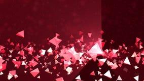 Fondo astratto triangolare rosa stock footage