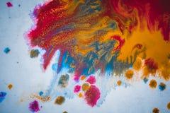 Fondo astratto vago divorzio colorato delle pitture Immagine Stock