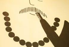 Fondo astratto vago parete del fumetto della barba dell'uomo Fotografia Stock Libera da Diritti