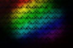 Fondo astratto variopinto al neon luminoso con i modelli geometrici Fotografie Stock Libere da Diritti