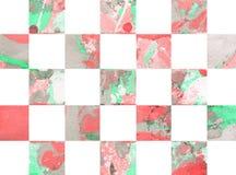Fondo astratto variopinto con i quadrati Immagini Stock