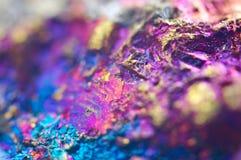 Fondo astratto variopinto da minerale naturale Macro Fotografia Stock Libera da Diritti
