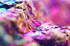 Fondo astratto variopinto da minerale naturale Macro Immagine Stock