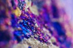Fondo astratto variopinto da minerale naturale Macro Fotografie Stock Libere da Diritti