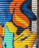 Fondo astratto variopinto dei graffiti Fotografie Stock
