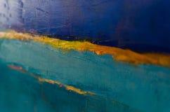 Fondo astratto variopinto della pittura a olio Olio su struttura della tela Immagini Stock
